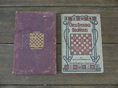 Rare 1888 'The Game of Draughts' + c.1900 'Chess Openings for Beginners' BOOKS