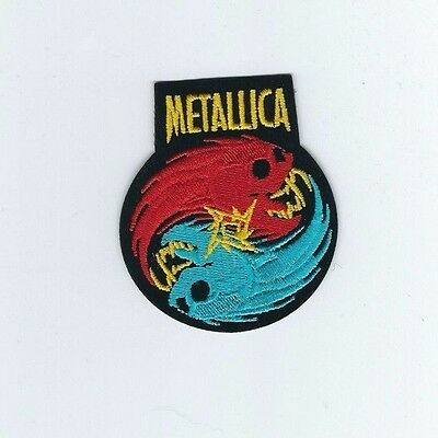 Metallica Skulls Yin Yang Embroidered Patch !