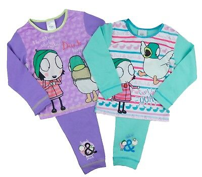 Toddler Girls Sarah And Duck Pyjama Set Sleeping Ducks 18-24M To 4