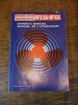1988 HONDA BF9.9A - BF15A Outboard Motor Owner's Manual
