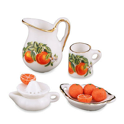 Reutter Porzellan Orange Juice Fresh / Fresh Orange Juicing Set Dollhouse 1:12