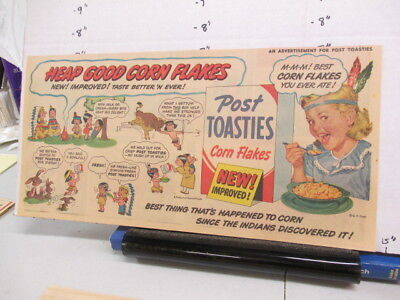 newspaper ad 1951 Post Toast cereal box racist Indian HEAP GOOD campfire girl R
