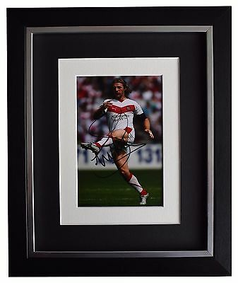 Sean Long SIGNED 10x8 FRAMED Photo Autograph Display St Helens Rugby League COA
