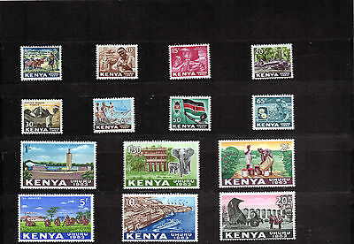 KENYA 1963  Ist definitive set/14  SG1-14   MUH   Cat £22.50