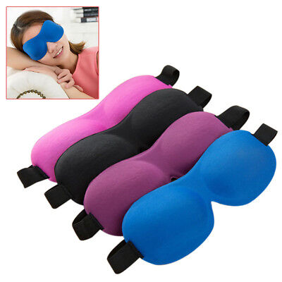 New 3D Eye Mask Shade Cover Lightweight Blindfold Travel Resting Sleeping Aid