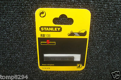 Pack Of 5 Stanley Rb108 Plane Blades 0 12 378 For Use With Rb5 & Rb10 Hand Plane