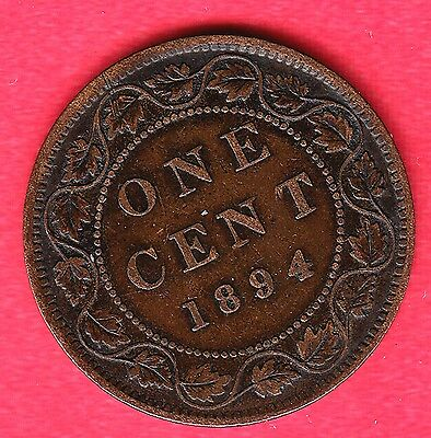 1894 Canadian Large Cents ~ Very-Fine+ Condition!