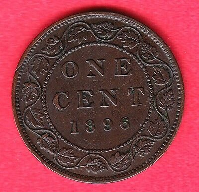 1896 Canadian Large Cents ~ Very-Fine+ Condition!