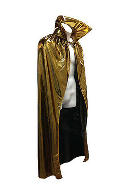 "54"" Adult Lucha Libre Halloween Luchador Costume Lycra Cape - Metallic Gold"