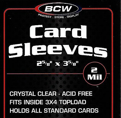 50 Soft Poly Card Sleeves - Sport  Gaming  Trading Cards  Penny Sleeve