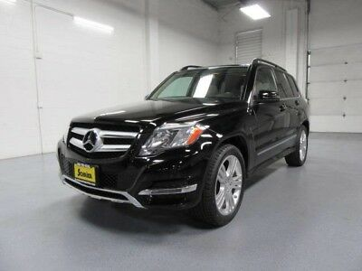 2013 Mercedes-Benz GLK-Class Base Sport Utility 4-Door 13 MB GLK Black AWD Dual Climate Power Lift Gate Roof Rack Wood Trim 19 In Wheel