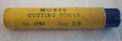 Morse Cutting Tools No.1750 Size 3/8 82 Degree Center Reamer Made In U.S.A.