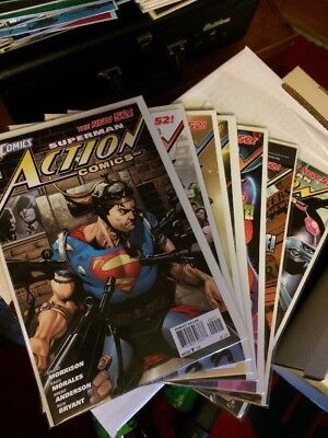 Superman Action Comics New 52 Dc Comics #2-8 Full Set Lot Run Morrison NM