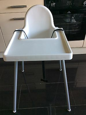 Ikea Antilop Baby Highchair In White Plastic 163 2 50