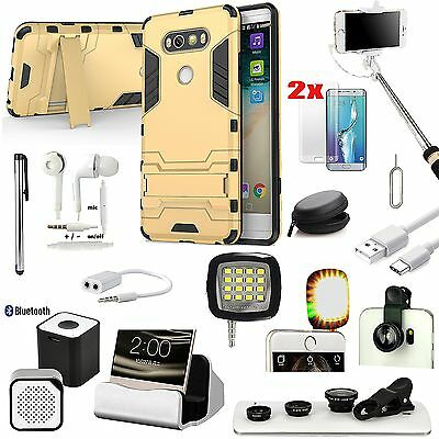 Case+Bluetooth Speaker+LED Light+Selfie Stick+Fish Eye Lens Accessory For LG V20