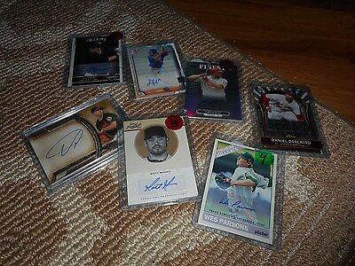 Signed Baseball Card Lot (7) Rays Orioles Cardinals Phillies Mets Autograph