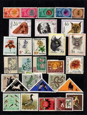 Poland Selection Of 75 Recent And Older Used Stamps On/off Paper