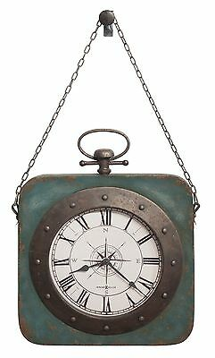 "Howard Miller New Metal Wall Clock -Antique Blue  Finish ""Windrose"" 625-634"
