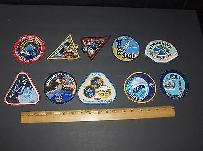 Vintage Nasa 10 Item Uncommon Rare Space Patch Lot #1
