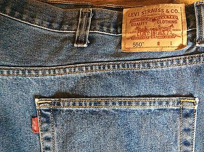 Mens LEVIS 550 Relaxed Fit Jeans size 50 x 32