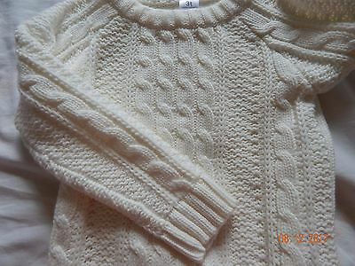 NWT Carters Girls 3T Ivory Cable Knit Sweater Pull over NEW Fall