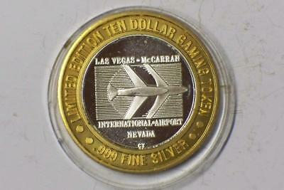 LIMITED $10 GAME TOKEN BLACK JACK LAS VAGAS-McARREN AIRPORT #5455 glcm