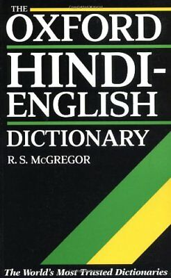 The Oxford Hindi-English Dictionary Paperback Book The Cheap Fast Free Post
