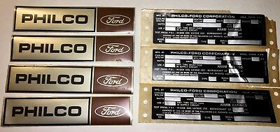 Vintage Philco-Ford Air Conditioner Metallic Labels Unused New Old Stock 1960's