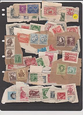 australia VERY OLD STAMPS AND POSTMARKS