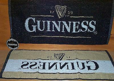 2 Guinness Draught Brewery Woven Bar Golf Towel New