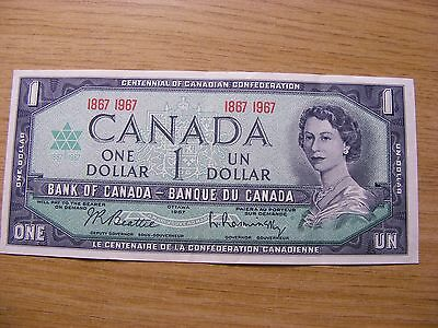A 1967 Canada 1 Dollar Banknote -  Used but very crisp