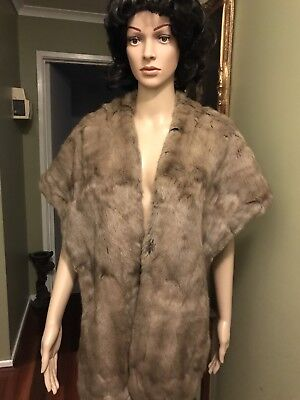 VINTAGE Real FUR Stole SOFT And Beautiful
