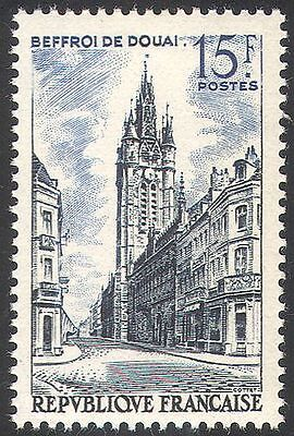 France 1955 Douai Belfry/Clock Tower/Campanile/Buildings/Architecture 1v n41898
