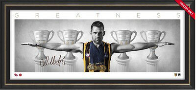 Hawthorn Hawks Luke Hodge Meet & Greet Framed Hodge Wings Presentation