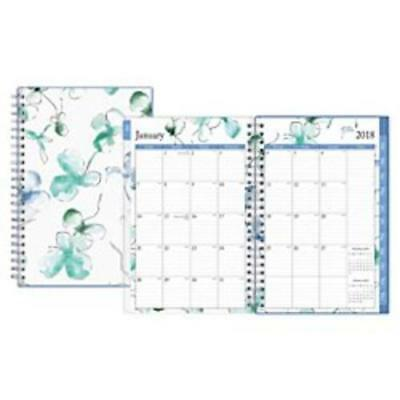Blue Sky BLS101579 Lindley Weekly/monthly Wirebound Planner, 5 X 8, White/blue,