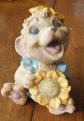 "Vintage 1995 Reco Resin HEDGEHOG ""Sunny"" Figurine LAUGHABLES"