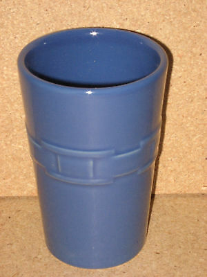 Longaberger Pottery Bathroom Tumbler Cornflower mint condition in box never used