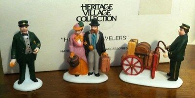 Dept 56 Heritage Dickens Village Accessory 1990 HOLIDAY TRAVELERS 55719