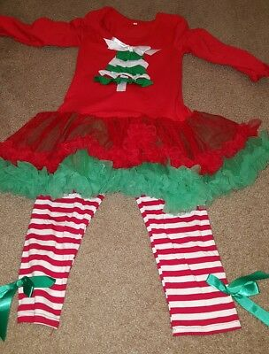 Toddler Girls Boutique 2 Piece Christmas Outfit Tutu 4T