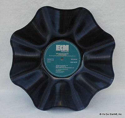 """CHICK COREA Recycled Record Bowl - """"Return To Forever"""" (1972) Jazz Album LP"""
