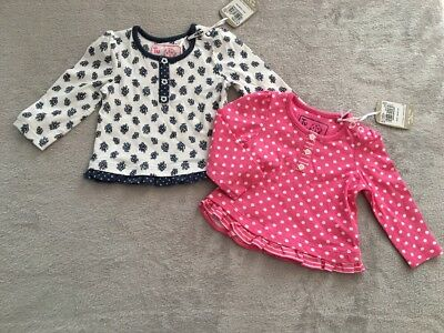 TU Pink Spotted and Blue Floral Long sleeve tops BRAND NEW NEWBORN