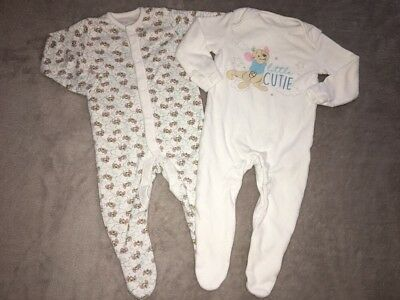 Disney Winnie the Pooh's Little Too All In One Rompers Babygrows 0-3 Months