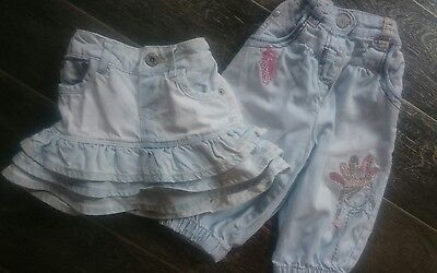 girls ted baker skirt and next jeans age 18-24 months