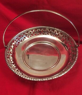 Vintage Silver Plated Art Deco Bowl With Handle c.1930's