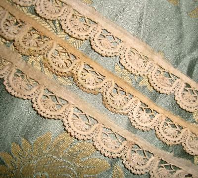 UNUSUAL 18th CENTURY CENTURY NARROW ANTIQUE LACE c1750s, DOLLS, REF ETC