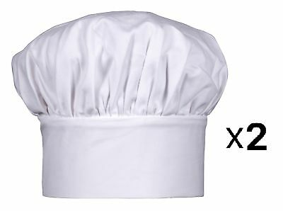 """Harold Gourmet Classics Child Size Adjustable Jr. Chef Hat - 7"""" Tall (2-Pack)"""