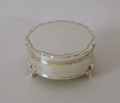 An Antique Sterling Silver Jewellery Box Birmingham 1915