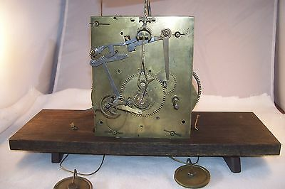 Antique English Grandfather Clock Movement, restored