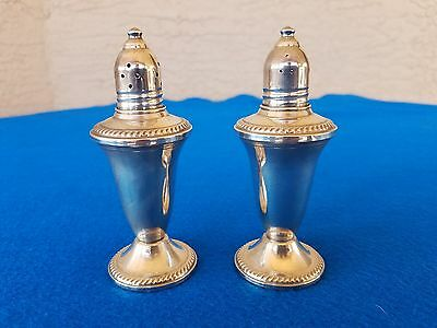 Fine Quality Duchin Sterling Silver Weighted Glass Lined Salt & Pepper Shakers