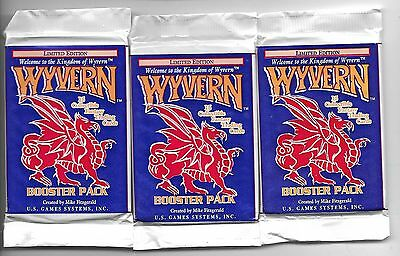 3 - Wyvern CCG Booster Pack-15 Cards,1994 US Game Systems Limited Edition Factor